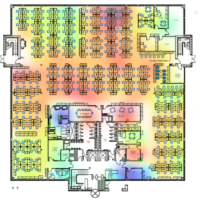 Temperature heatmap of office building
